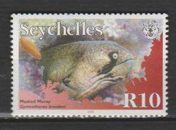 """SEYCHELLES ,N°884 """" GYMNOTHORAX  BREEDENI - Fische"""