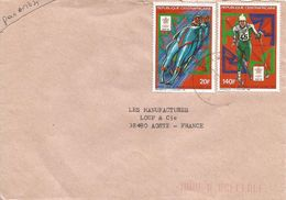 Centrafrique RCA CAR 1989 Bangui Olympic Games Calgary Winter Bob Sleigh Skiing Cover - Centraal-Afrikaanse Republiek