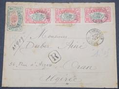 FRANCE / RÉUNION - Enveloppe En Recommandé De Cambuston Pour Oran En 1907 , Peu Fréquent - L 9856 - Réunion (1852-1975)