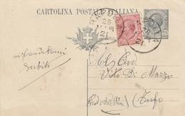 Rapolla. 1921. Annullo Grande Cerchio RAPOLLA, Su Cartolina Postale - 1900-44 Victor Emmanuel III