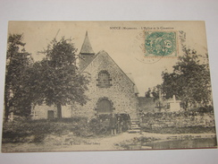C.P.A.- Soucé (53) - L'Eglise Et Le Cimetière - 1907 - SPL (N4) - France
