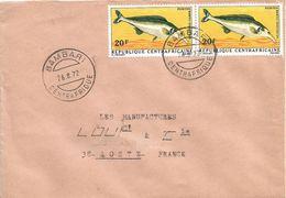 Centrafrique RCA CAR 1972 Bambari Freshwater Fish Mormyrus Rume Proboscirostris Cover - Centraal-Afrikaanse Republiek