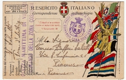 CARTOLINA POSTALE ITALIANA IN FRANCHIGIA - CORRISPONDENZA DEL R. ESERCITO - PIAZZA MARITTIMA DI VENEZIA - 1918 - War 1914-18