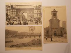 Cartes Postales - Lot De 3 CPA PARIS (75) Diverses (1814) - Konvolute, Lots, Sammlungen