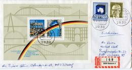 (k4634) Einschr. Brief Bund St. Bassum - BRD