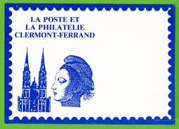 LA POSTE ET LA PHILATELIE / CLERMONT FERRAND / JUIN 1985......Carte Vierge - Postzegels