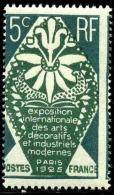 """France N°211 Piquage à Cheval """"""""5c"""""""" Qualité:** Cote:  80 - Variedades: 1921-30 Nuevos"""