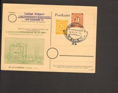 Alli.Bes. 24 U.25 Pfg.Ziffer Auf Postkarte Mit Sonderstempel Rhein-Posta Köln Von 1947 2 Bilder - Gemeinschaftsausgaben