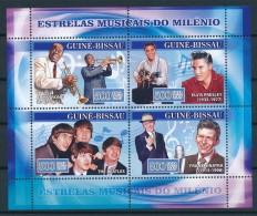 Guiné-Bissau 2007 - Musique, Louis Armstrong, Elvis Presley, The Beatles, Frank Sinatra - Musica