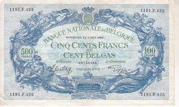 Billet De 500 Francs Belges - 80b - [ 2] 1831-... : Belgian Kingdom