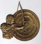 Très Belle Ancienne Récompense Tir à L'arc Archer Cible - Archery