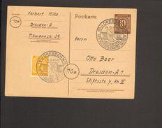 Alli.Bes.10 Pfg.Ziffer-Ganzsache P 952  Mit Sonderstempel Dresden Landeskonferenz Volkssolidarität Von 1947 - Gemeinschaftsausgaben