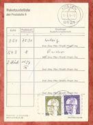 Paketzustelliste Poststelle II, MiF Heinemann, OT Koesten 1974 (41231) - BRD