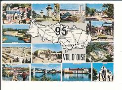 Val D'Oise Département 95 Sarcelles-Lochères Ermont Bessancourt ... Carte Postale Géographique CP 68/38 - Cartes Géographiques