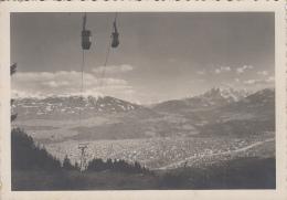 Autriche -Innsbruck - Panorama - Téléphérique - 1951 - Innsbruck