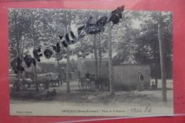 Cp Rare  Benejacq Place De La Bascule Animé - Sonstige Gemeinden