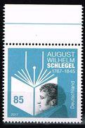 Bund 2017, Michel# 3332 ** 250. Geburtstag August Wilhelm Schlegel - BRD