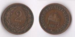 Hungary Ungheria 2 Filler 1903 Mint  Kb - Ungheria
