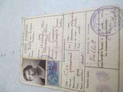 Carte  D'Identité Ancienne à 2 Volets/Mairie De Coulanges Les Nevers/Niévre/Vallet Marie Née Dupuis/ 1940       AEC83 - Unclassified