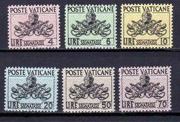 1954 - VATICAN - POSTAGE DUE - Scott #J13-J18 - MNH VF ** - Postage Due