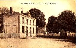 AH 238 / C P A -  LA SUZE   (72 )   LA GARE CHAMP DU PLAISIR - La Suze Sur Sarthe