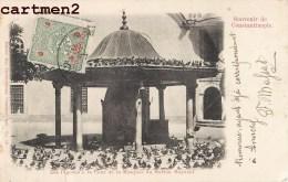 SOUVENIR DE CONSTANTINOPLE PIGEONS MOSQUEE SULTAN BAYAZID + CACHET FERID G. MASSAD TURQUIE TURKEY - Turchia