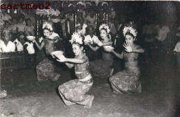 CARTE PHOTO : BALI INDONESIE INDONESIA DANCING DANSEUSE ETHNOLOGIE ASIE JAVA - Indonesië