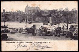 STOCKHOLM : Sodra Mälarstrand Fran Riddarholmen - Sent In 1905 - Suède