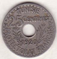 PROTECTORAT FRANCAIS. 25 CENTIMES 1920. - Tunisie
