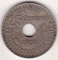 PROTECTORAT FRANCAIS. 25 CENTIMES 1931 - Tunisie
