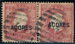 Açores, 1871/6, # 19 Dent. 12 3/4, Carimbo Ponta Delgada, Used - Azores