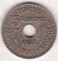 PROTECTORAT FRANCAIS. 5 CENTIMES 1933 Petit Module - Tunisia