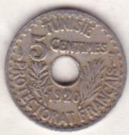 PROTECTORAT FRANCAIS. 5 CENTIMES 1920 Petit Module , En Frappe Médaille. RARE - Tunisie