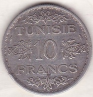 PROTECTORAT FRANCAIS. 10 FRANCS AH 1353 (1934),  En Argent - Túnez