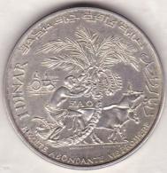 1 DINAR 1970 F.A.O . Habib Bourguiba .Argent - Tunisia