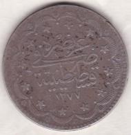 Empire Ottoman. 20 KURUSH AH 1277 Year 10. Abdul Aziz,  KM# 693, En Argent - Turquie
