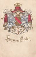 Gruss Aus Baden, Coat Of Arms Symbol, Early Germany C1900s Vintage Embossed Postcard - Germania
