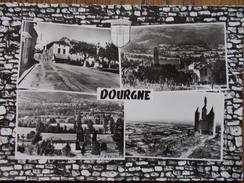 81 - DOURGNE - Place De La Libération, L'Abbaye St-Benoit, Vue Générale... (CPSM Multivues) - Dourgne