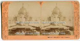 FOTOGRAFIA STEREOSCOPICA EXPOSITION UNIVERSELLE PARIS ANNO 1889 FONTAINE LUMINEUSE ET DOME D'HONNEUR - Stereoscopi
