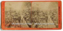 FOTOGRAFIA STEREOSCOPICA EXPOSITION UNIVERSELLE PARIS ANNO 1889 INTERIEUR DU PALAIS DES MACHINES - Stereoscopi