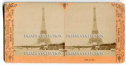 FOTOGRAFIA STEREOSCOPICA EXPOSITION UNIVERSELLE PARIS ANNO 1889 TOUR EIFFEL - Stereoscopi