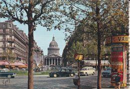 CPSM/gf (75) PARIS. La Place Ed. Rostand, La Rue Soufflot Et Le Panthéon. ..G689 - Places, Squares