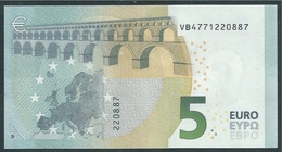 € 5 SPAIN  VB V010 B1  DRAGHI  UNC - 5 Euro