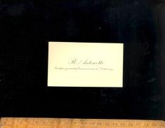 Carte De Visite Raphaël Valentin Marius ANTONETTI Secrétaire Général Du Gouvernement Du DAHOMEY  (BENIN) - Cartes De Visite