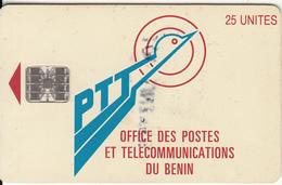 BENIN - PTT Logo 25 Units, Chip SC7, Red CN : C55150293, Used - Benin