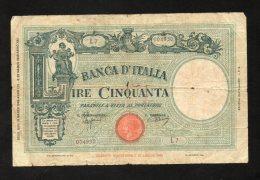 Banconota Lire 50 Regno D'Italia Grande Fascio 31/3/1943 (MB) - [ 1] …-1946 : Regno