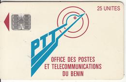 BENIN - PTT Logo 25 Units, Chip SC7, Red CN : C32141061, Used - Benin