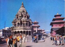 NEPAL - COLOUR PICTURE POST CARD - COTTAGE INDUSRIES & HANDICRAFTS EMPORIUM - PATAN DURBAR SQUARE - Nepal