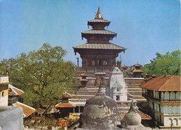NEPAL - COLOUR PICTURE POST CARD - COTTAGE INDUSRIES & HANDICRAFTS EMPORIUM - TALEJU TEMPLE - Nepal