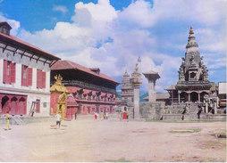NEPAL - COLOUR PICTURE POST CARD - COTTAGE INDUSRIES & HANDICRAFTS EMPORIUM - BHAKTAPUR DURBAR SQUARE - Nepal